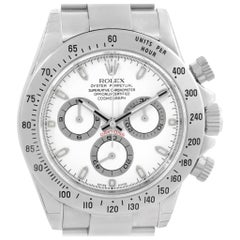 Rolex Daytona White Dial Chronograph Steel Men's Watch 116520 Unworn