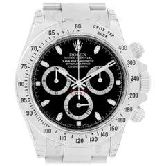 Rolex Daytona Black Dial Chronograph Steel Watch 116520 Unworn