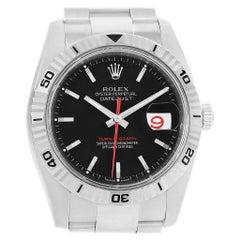 Rolex Datejust Turnograph Black Dial Men's Watch 116264 Unworn