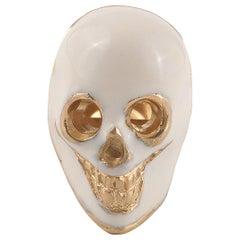 18 Karat Gold Lapel Pin Skull