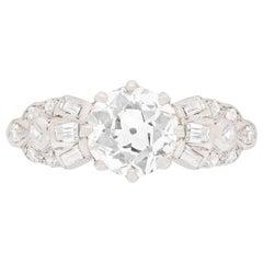 Art Deco 1.50 Carat Diamond Solitaire Engagement Ring, circa 1920s