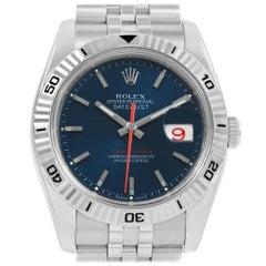 Rolex Datejust Turnograph Blue Dial Jubilee Bracelet Men's Watch 116264