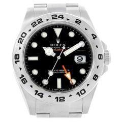 Rolex Explorer II Black Dial Orange Hand Men's Watch 216570