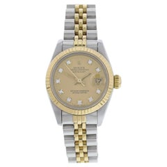 Rolex Oyster Perpetual Datejust 69173 Diamond Dial Ladies Watch