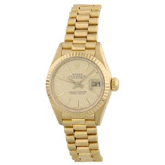 Rolex Oyster Perpetual Datejust 69178 18 Karat Yellow Gold Ladies Watch Papers