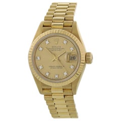 Rolex Oyster Perpetual Datejust 69178 18 Karat Diamond Ladies Watch