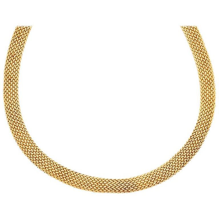 Tiffany & Co. Gold Somerset Necklace and Bracelet Set For Sale