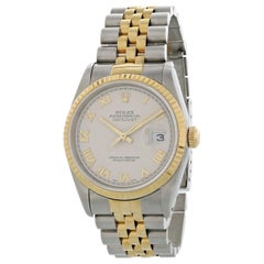 Rolex Oyster Perpetual Datejust 16233 Pyramid Dial Men's Watch