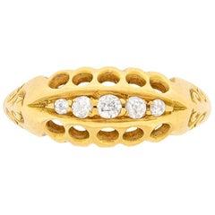 Antique Old Cut Diamond Five-Stone Ring, circa 1900s