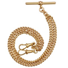 Antique 1910s Double Albert Watch Chain in Gold