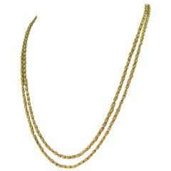Victorian Yellow Gold Longaurd Chain