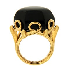 Valentin Magro Special Cut Onyx Gold Hexagon Ring