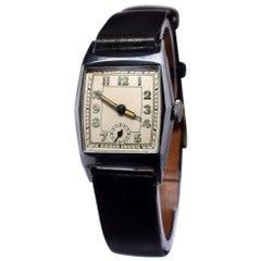 1930s Art Deco Gentleman's Manual Wristwatch