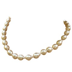 South Sea White Baroque Pearls Necklace