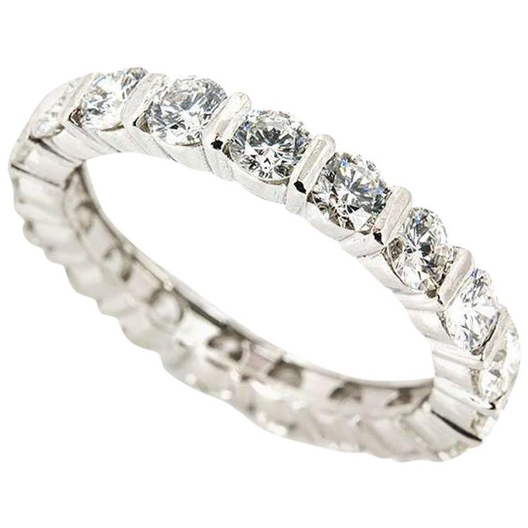 Diamond Eternity Band Ring 1.90 Carat For Sale