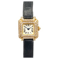 Cartier Paris Yellow Gold and Diamond Ladies Mechanical Boutique Watch