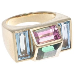 Tiffany & Co. Paloma Picasso Gemstone Gold Ring