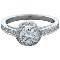 Round Diamond Gold Engagement Ring
