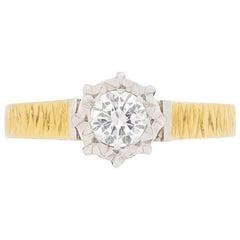 Vintage Diamond 0.30 Carat Solitaire Ring, circa 1950s