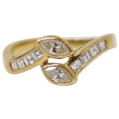 Yellow Gold and Diamonds Wedding or Engagement Ring