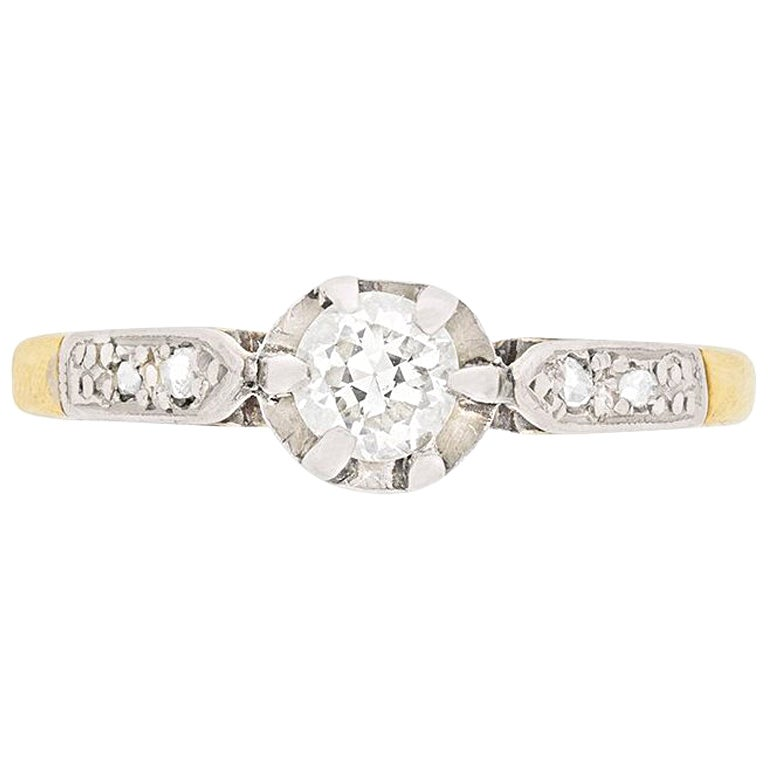Victorian Diamond Solitaire Engagement Ring, circa 1900s