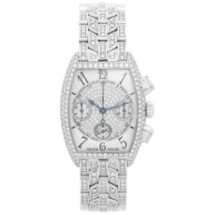 Franck Muller Cintree Curvex Chronograph Pave Diamond Ladies Watch