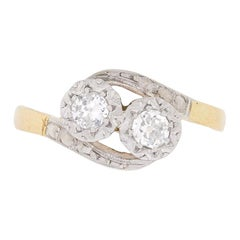 Art Deco Two-Stone Diamond Ring, circa 1920s