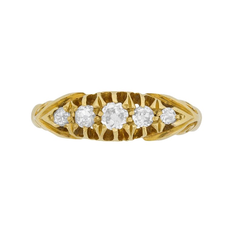 Victorian Five-Stone Diamond Ring, circa 1900s