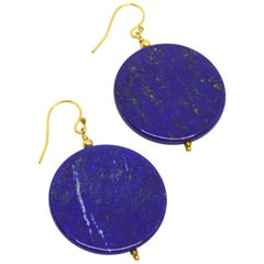 Decadent Jewels Lapis Lazuli Gold Earrings