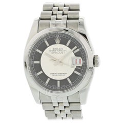 Rolex Oyster Perpetual Datejust 116200 Tuxedo Dial Men's Watch