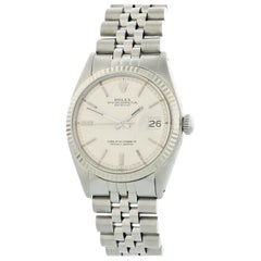 Rolex Oyster Perpetual Datejust 1601 Linen Dial Men's Watch