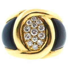 Van Cleef & Arpels Yellow Gold, Diamond and Wood Ring