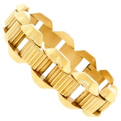 Egyptian 18 Karat Rose Gold Retro Bracelet