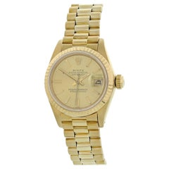Rolex Oyster Perpetual Datejust 6917 18 Karat Yellow Gold Ladies Watch