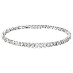 Giulians Contemporary 18k White Gold Diamond Bangle