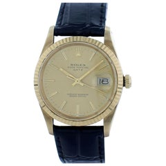 Rolex Oyster Perpetual Date 15038 18 Karat Yellow Gold Vintage Watch