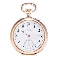 A.Lange & Sohne 14 Karat Rose Gold Hand Automatic Pocket Watch