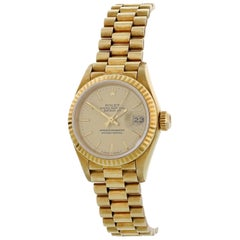Rolex Oyster Perpetual Datejust 69178 18 Karat Yellow Gold Ladies Watch