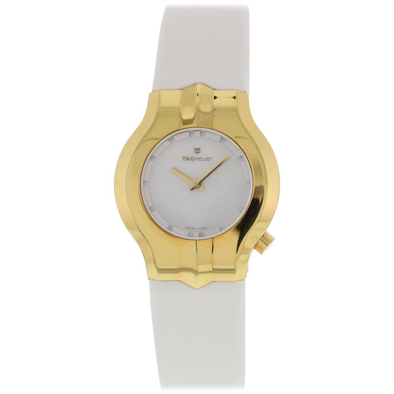 7b8cafe6864b TAG Heuer Alter Ego WP1440 18 Karat Yellow Gold Ladies Watch For Sale