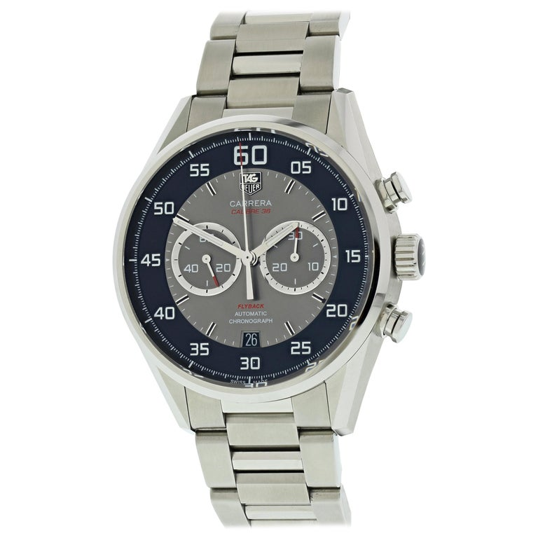 TAG Heuer Carrera Flyback Chronograph CAR2B10 Men's Watch For Sale
