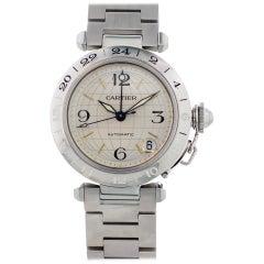 Cartier Pasha 2377 GMT Stainless Steel Men's Watch