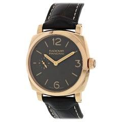 Panerai Radiomir 1940 PAM513 18 Karat Rose Gold Men's Watch Box and Papers