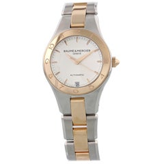 Baume & Mercier Linea 18 Karat Gold and Steel MOA10073 Automatic Ladies Watch