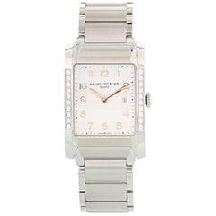 Baume & Mercier Hampton Milleis MOA10023 Steel and Diamonds Ladies Watch