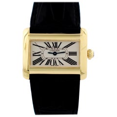 Cartier Tank Divan 18 Karat Yellow Gold 2601 Ladies Watch