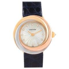 Cartier Trinity White Yellow Rose Gold Diamond Ladies Watch W200246