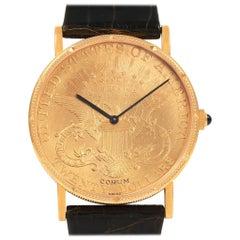 Corum 20 Dollars Double Eagle Yellow Gold Coin Manual Men's Watch