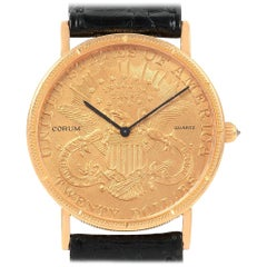 Corum 20 Dollars Double Eagle Yellow Gold Coin Year 1897 Men's Watch
