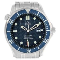 Omega Seamaster 41 James Bond Blue Wave Dial Steel Watch 2541.80.00