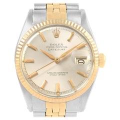 Rolex Datejust Steel Yellow Gold Vintage Men's Watch 1601